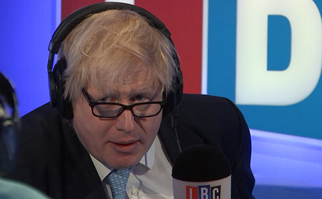 Boris Johnson LBC studio