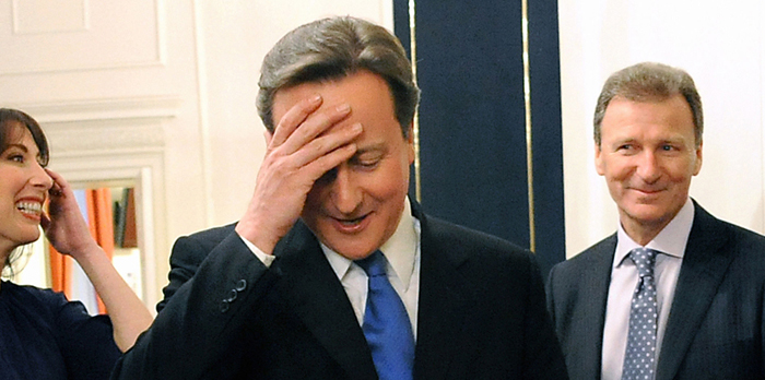 David Cameron Head In Hands