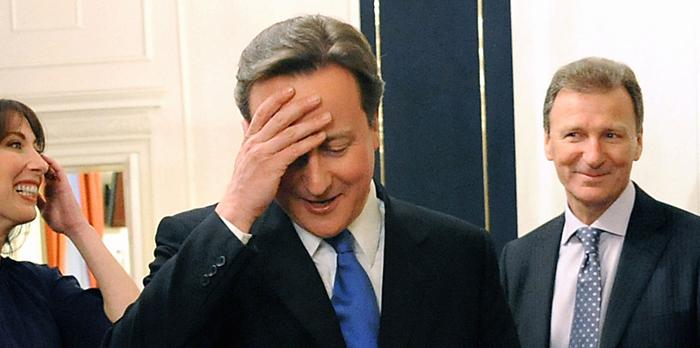 David Cameron Head In Hands