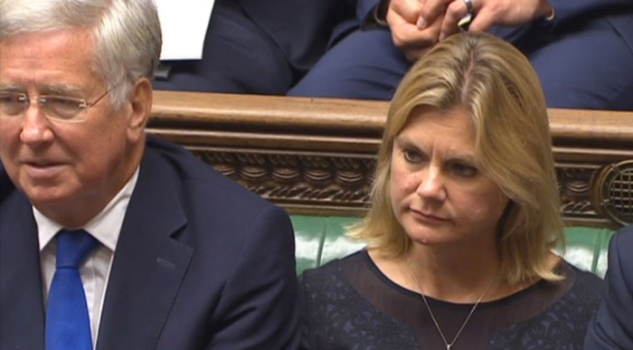 Justine Greening Michael Fallon Commons