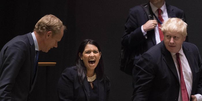Priti Patel Laughing