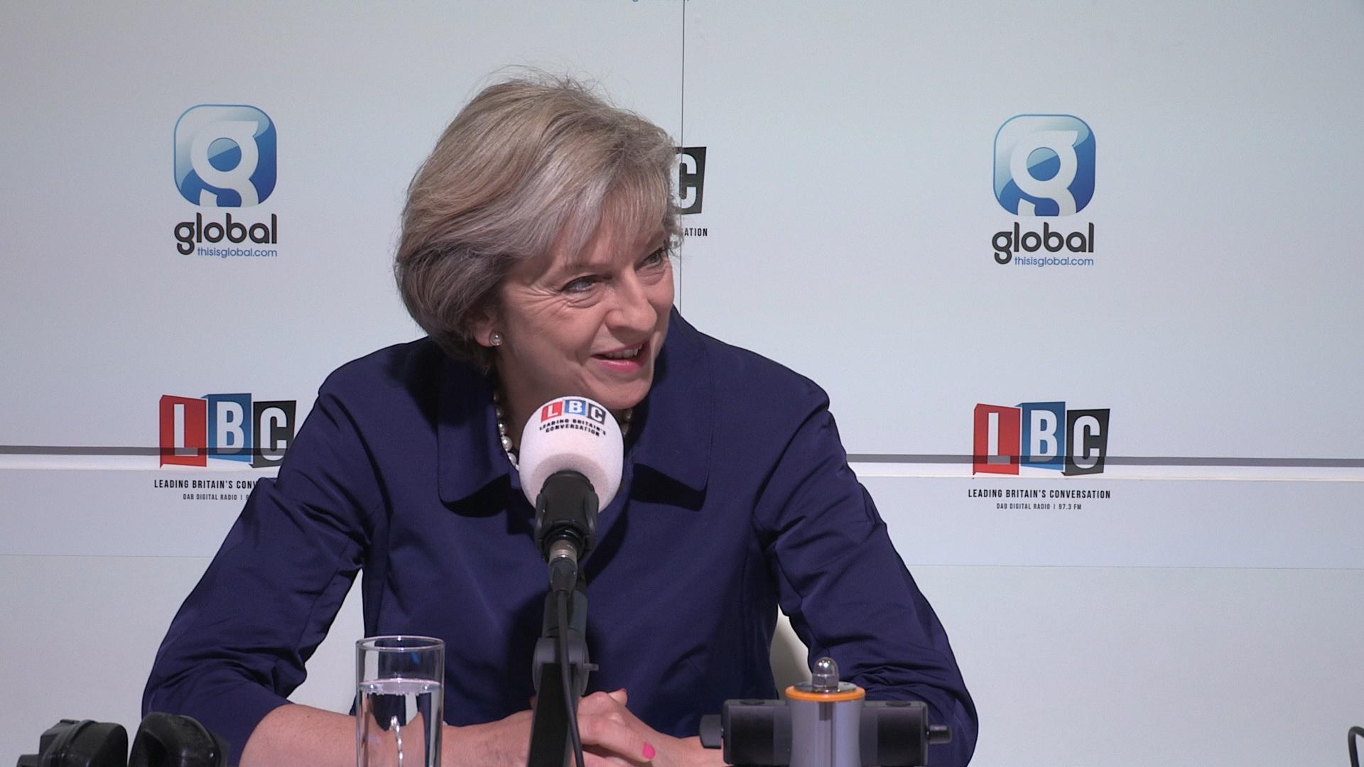 Theresa May LBC conference