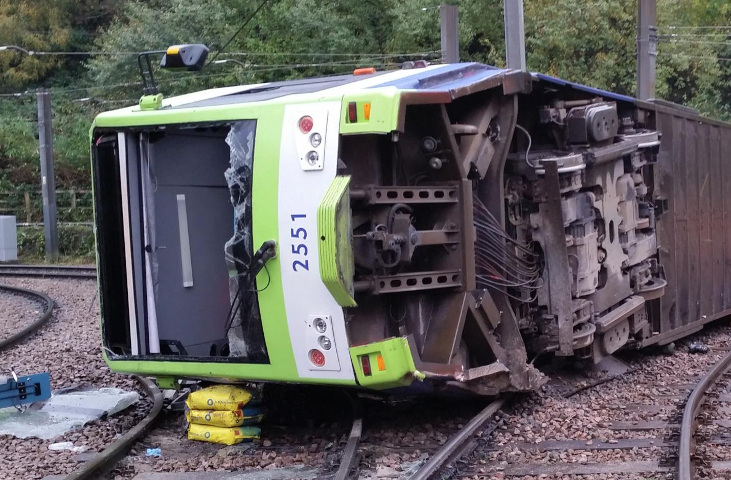 Croydon Tram Crash close-up