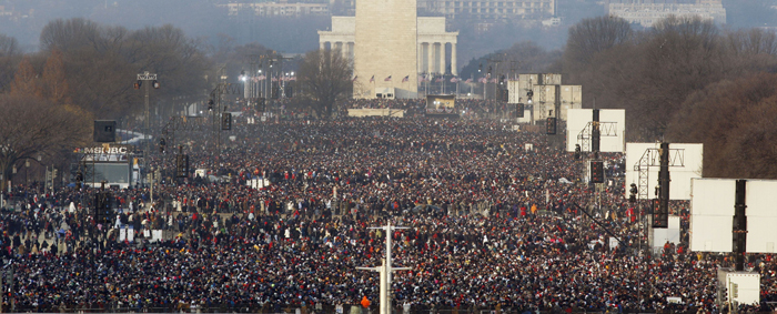 Barack Obama Inauguration Crowd