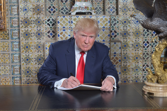 Donald Trump Writing Speech