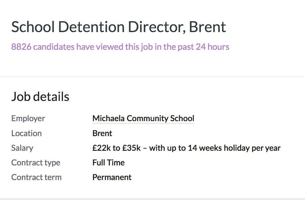School Detention Director