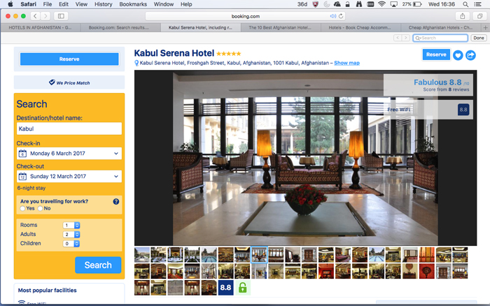 Booking.com Dangerous Travel