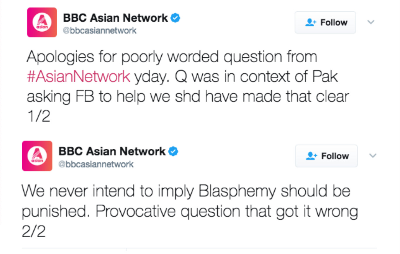 BBC Asian Network Apology