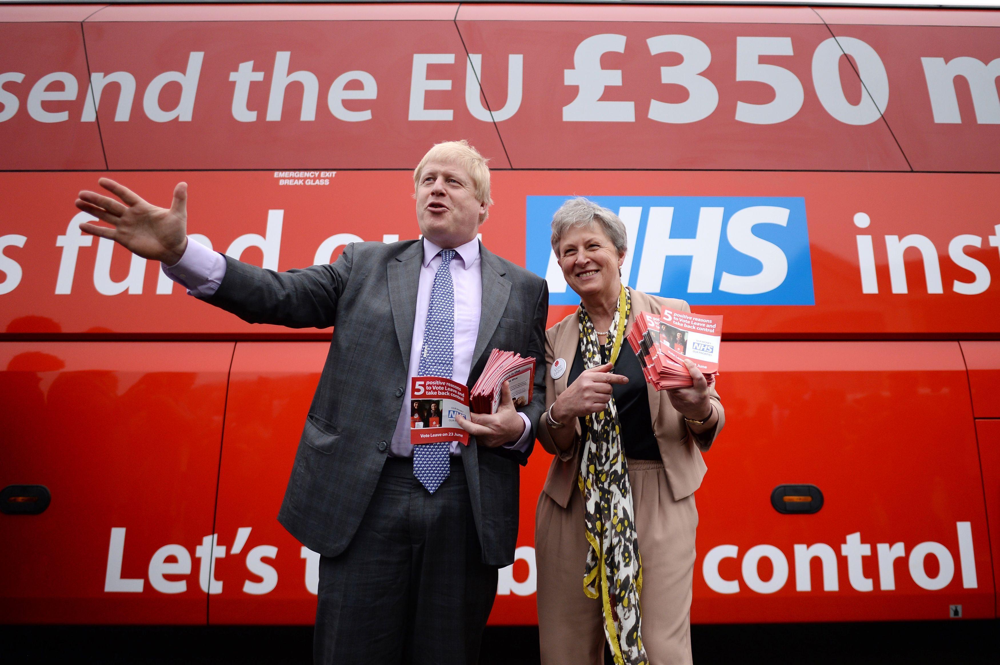 Boris Johnson £350m bus