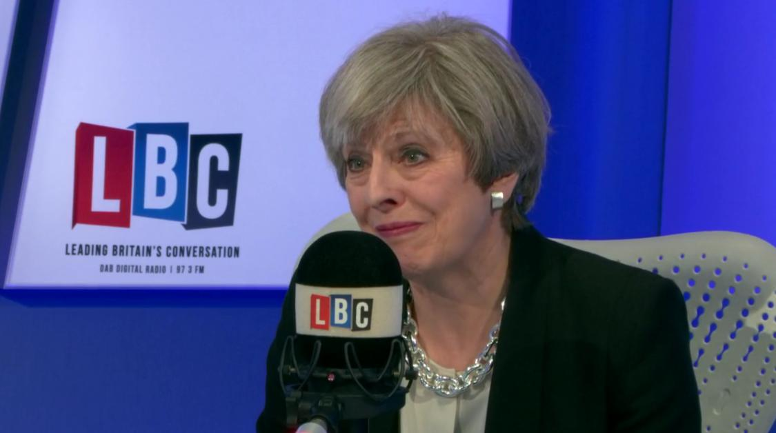 Theresa May LBC