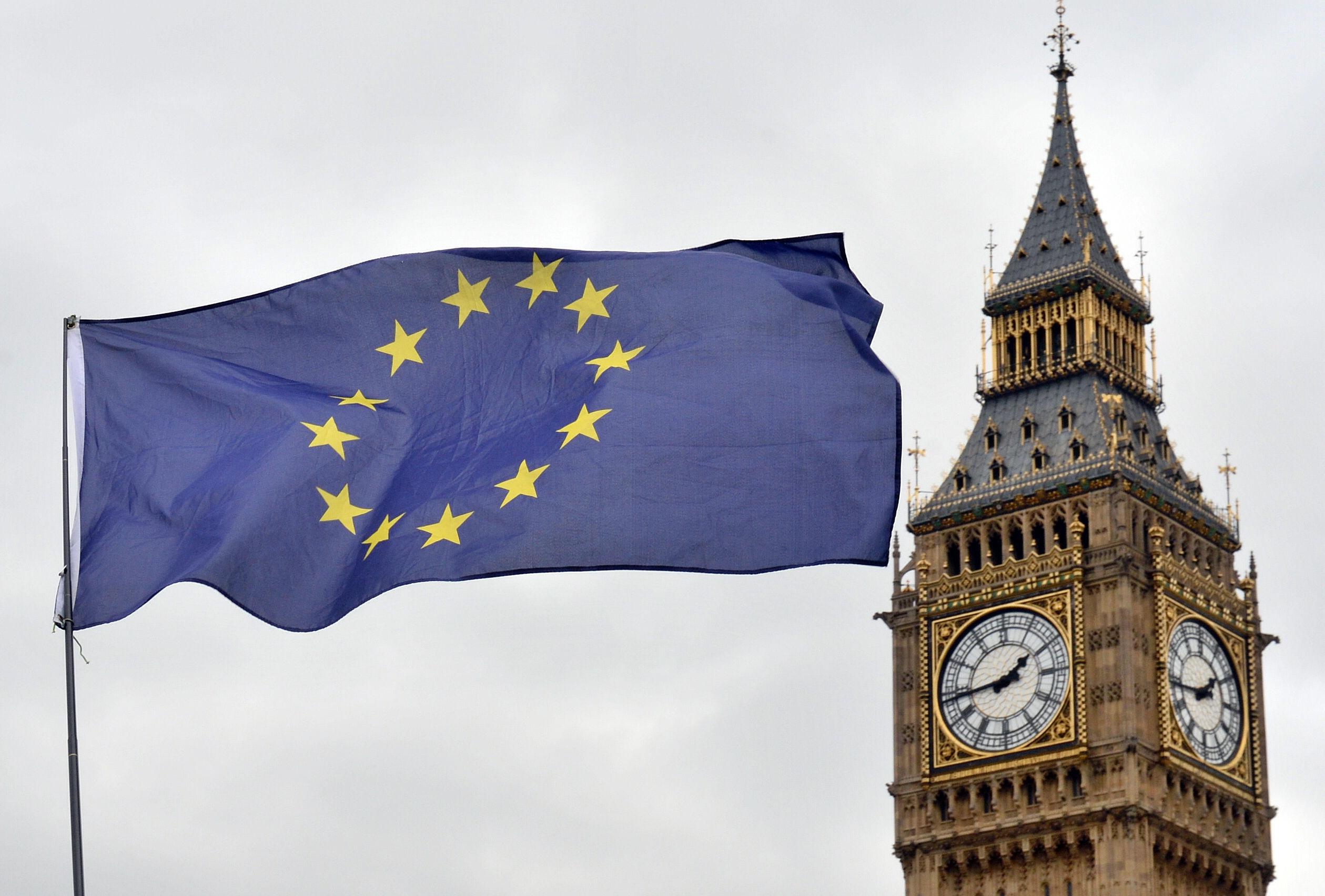 Big Ben and the EU Flag