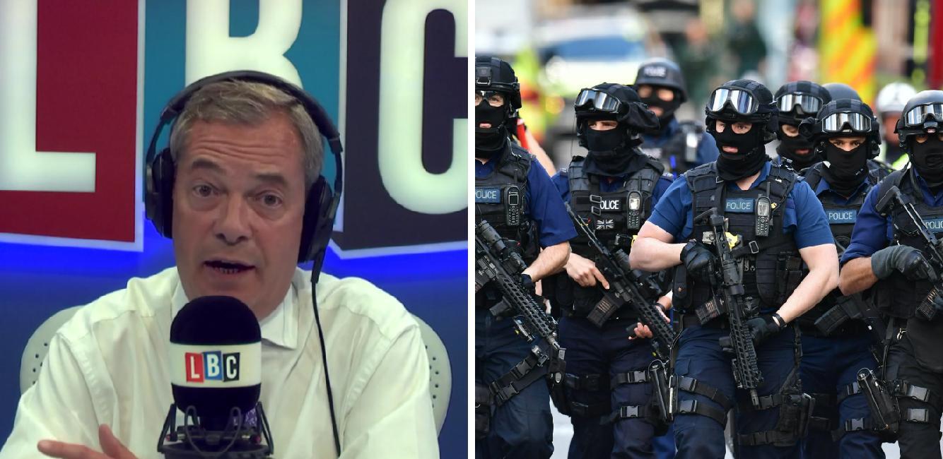 Nigel Farage armed police