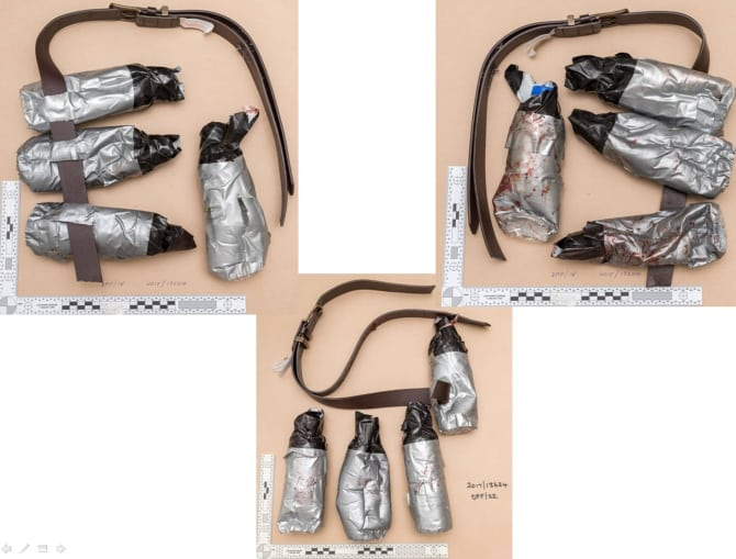 Fake Explosive Belts Worn By London Bridge Attacke