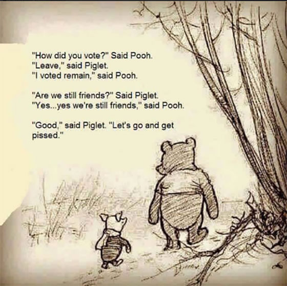 Winnie The Pooh Brexit meme