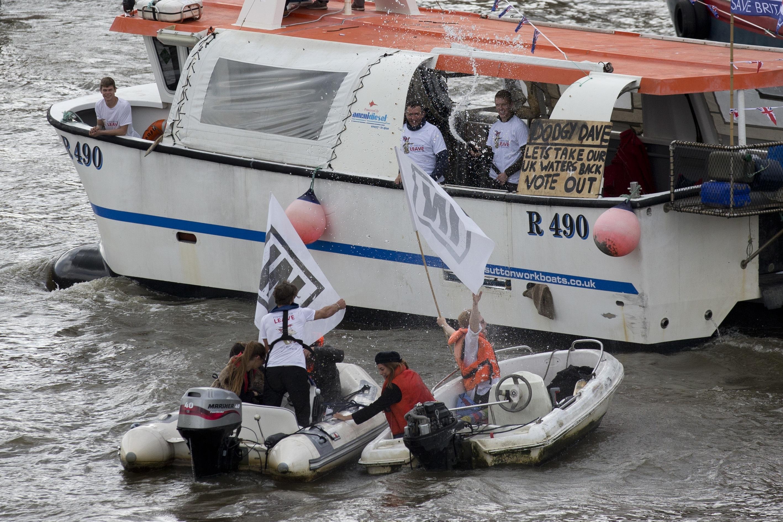 Farage Geldof Brexit Boat