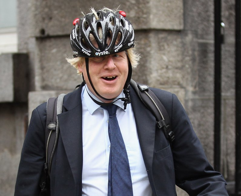 Boris shows how NOT to wear a bike helmet - The Funniest Photos Of ...