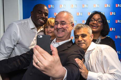Iain Dale Selfie with Labour Mayoral candidates