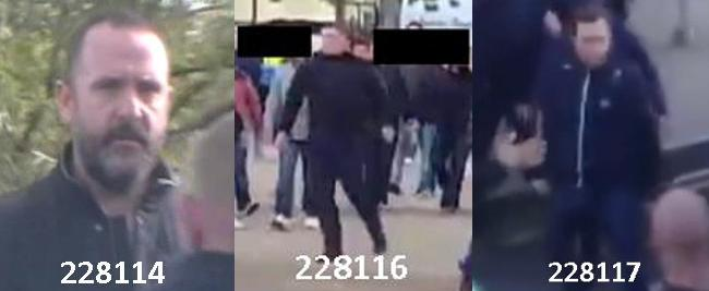 West Ham violence suspects 1