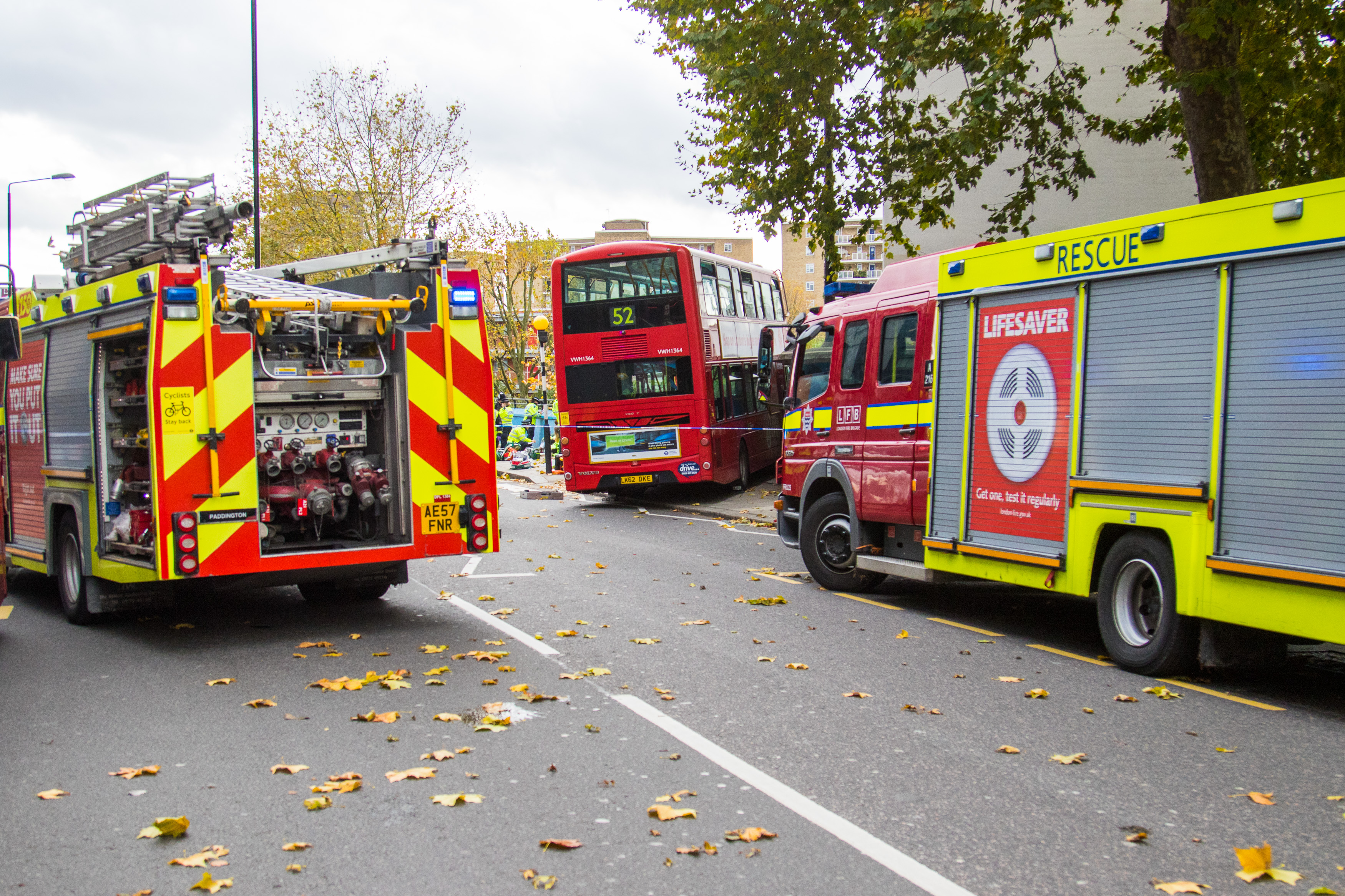 Bus Crash in London's Ladbroke Grove