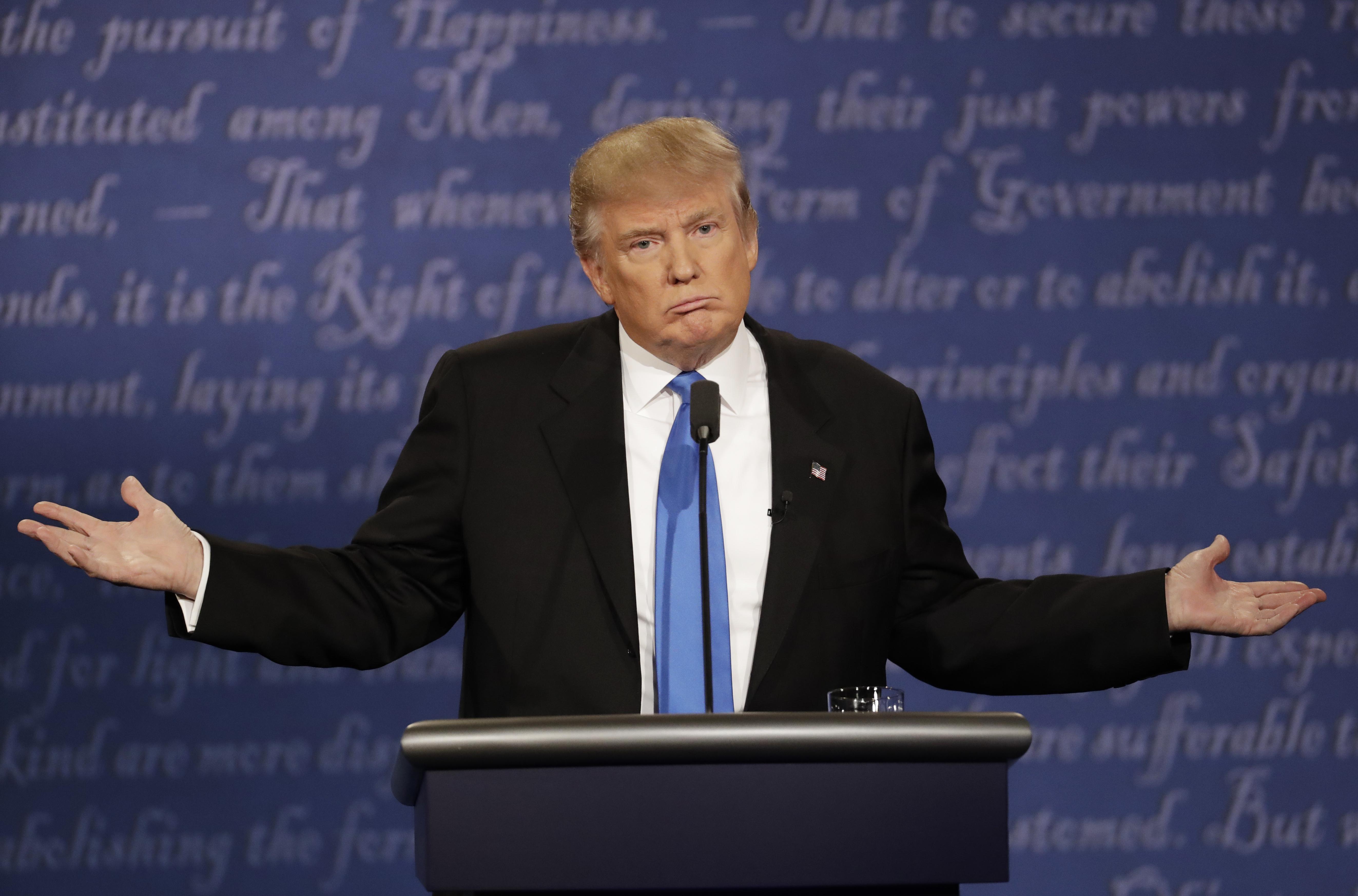 Donald Trump annoyed