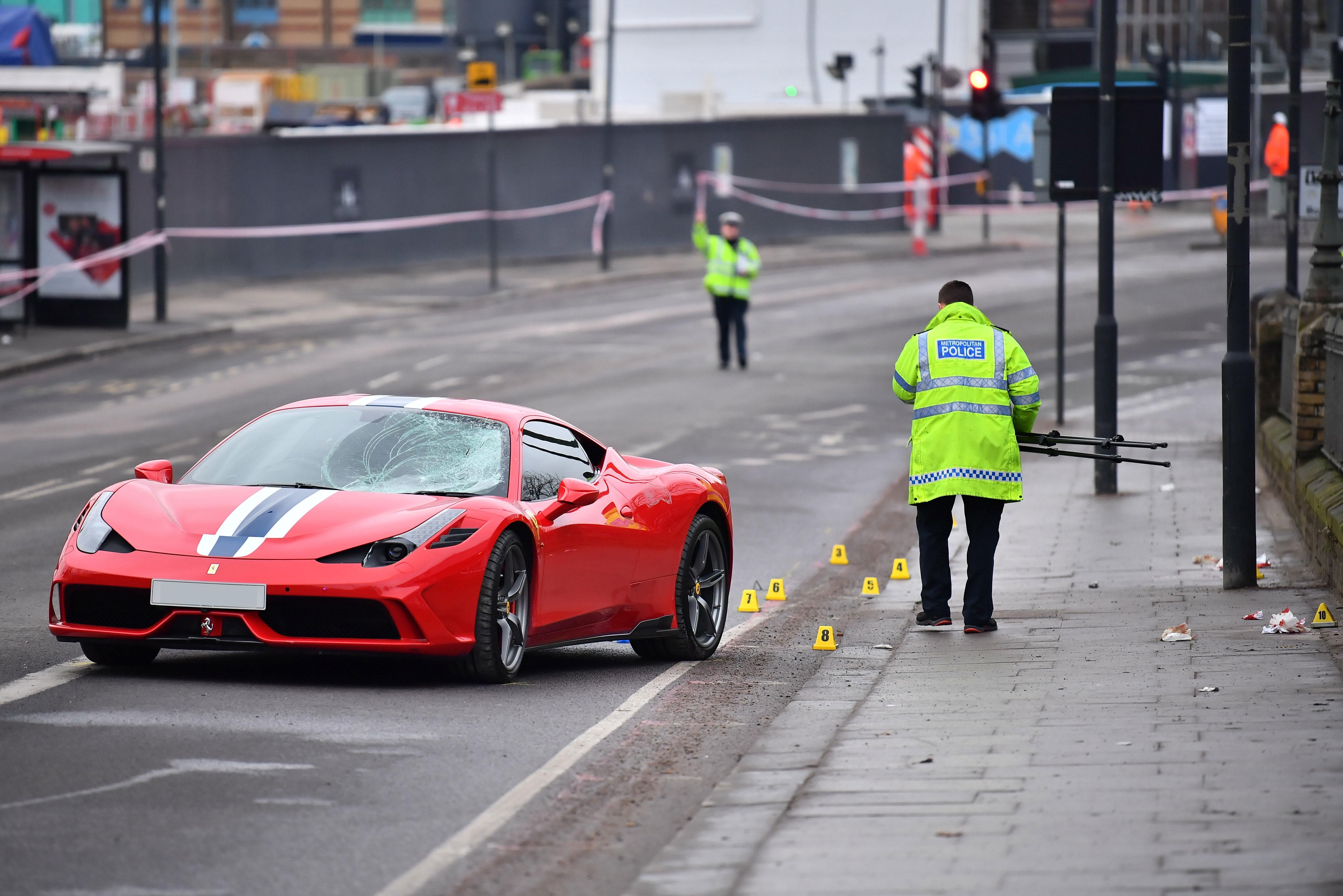 Battersea Ferrari collision
