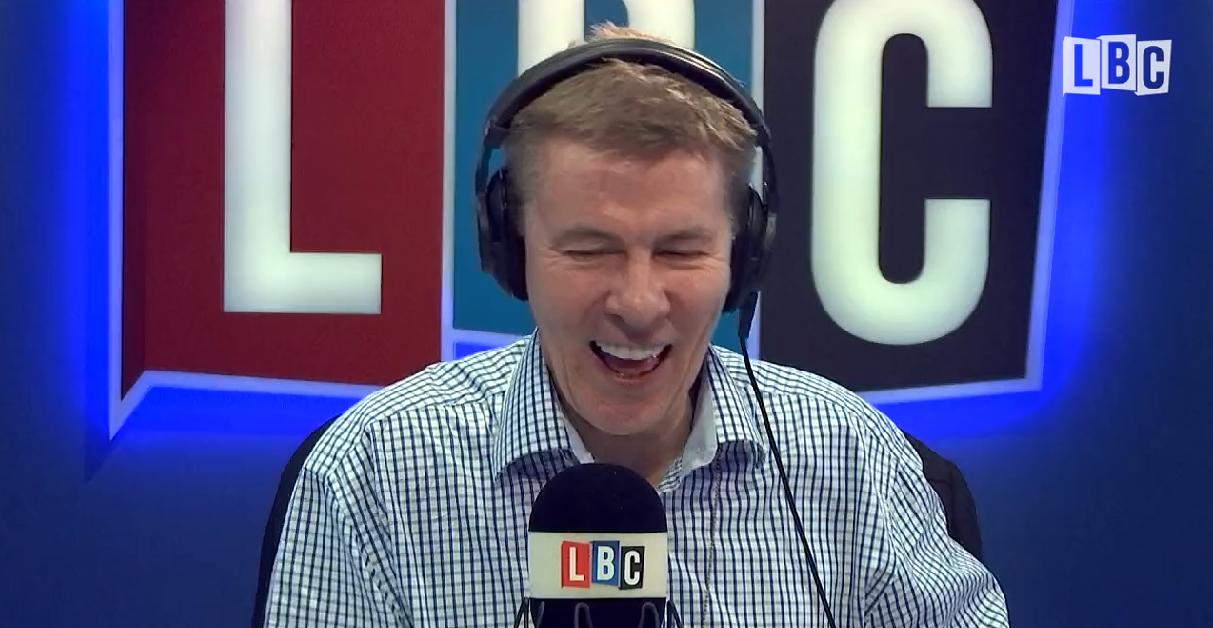 Andrew Pierce laughing