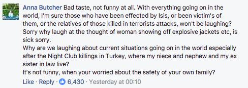 Facebook Comment On Real Housewives Of ISIS