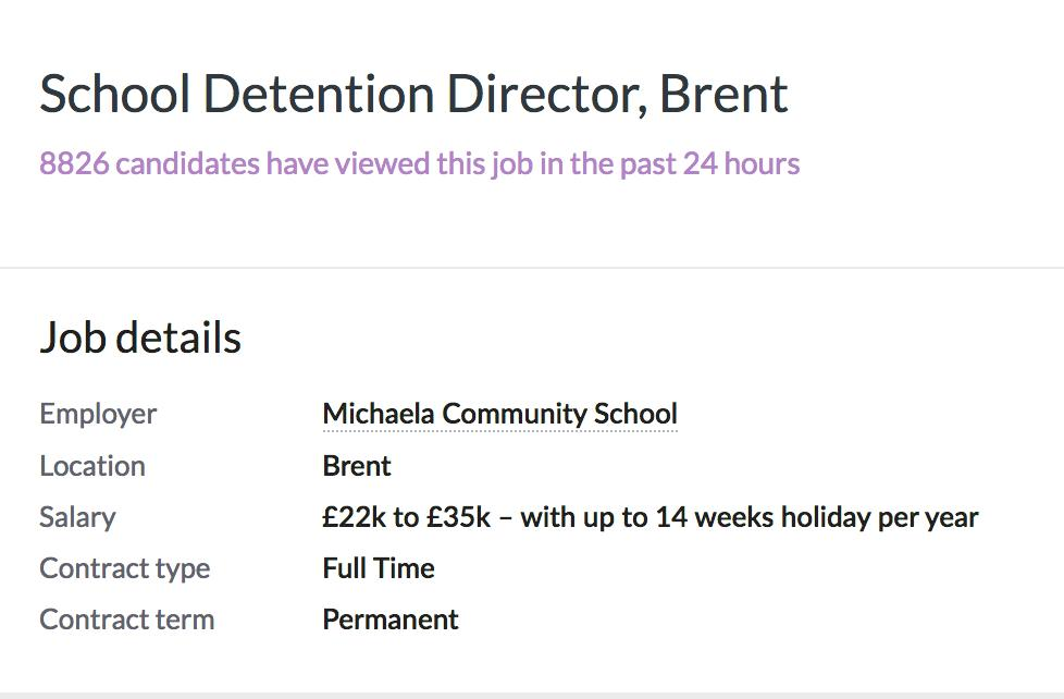 School Detention Director