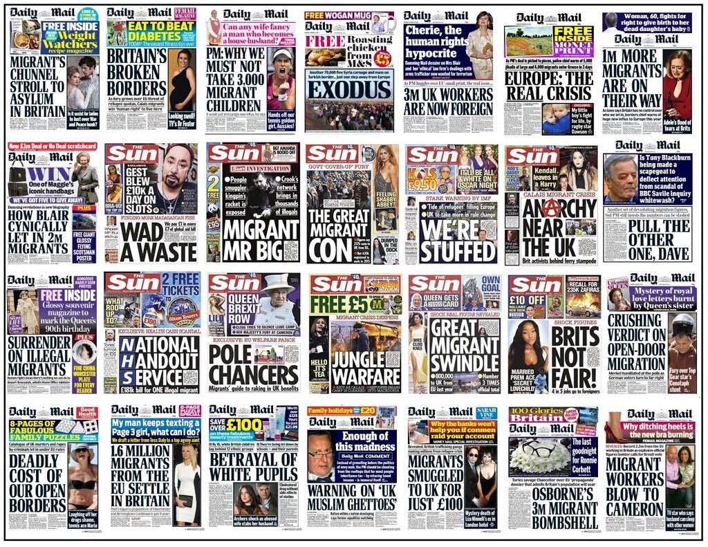 Daily Mail The Sun front pages