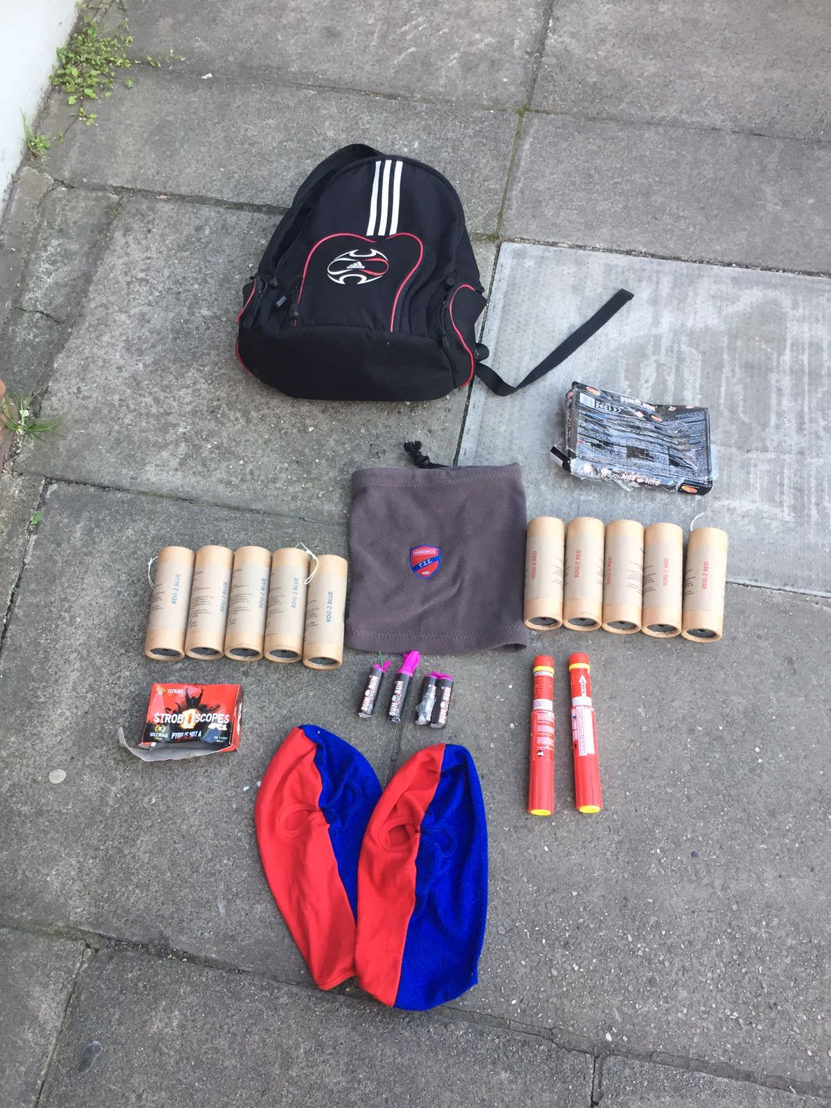Some Of The Recovered Pyrotechnics