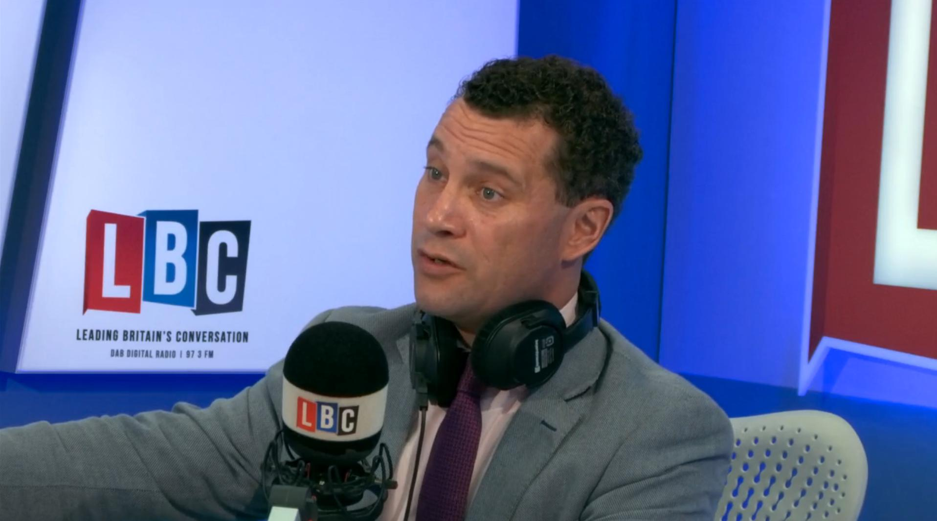 Steven Woolfe in the LBC studio