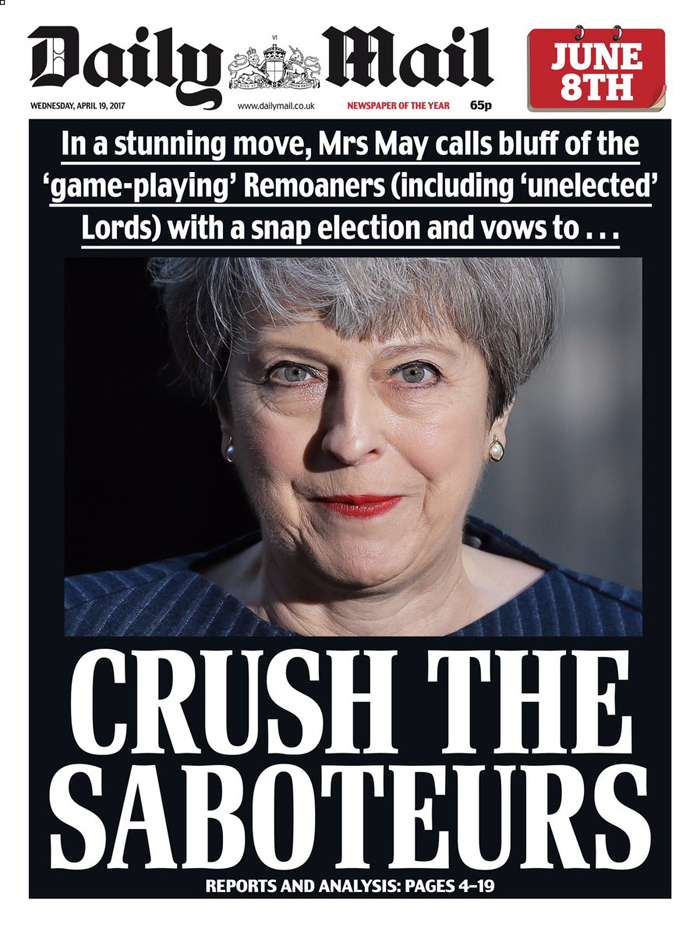 Crush The Saboteurs Front Page