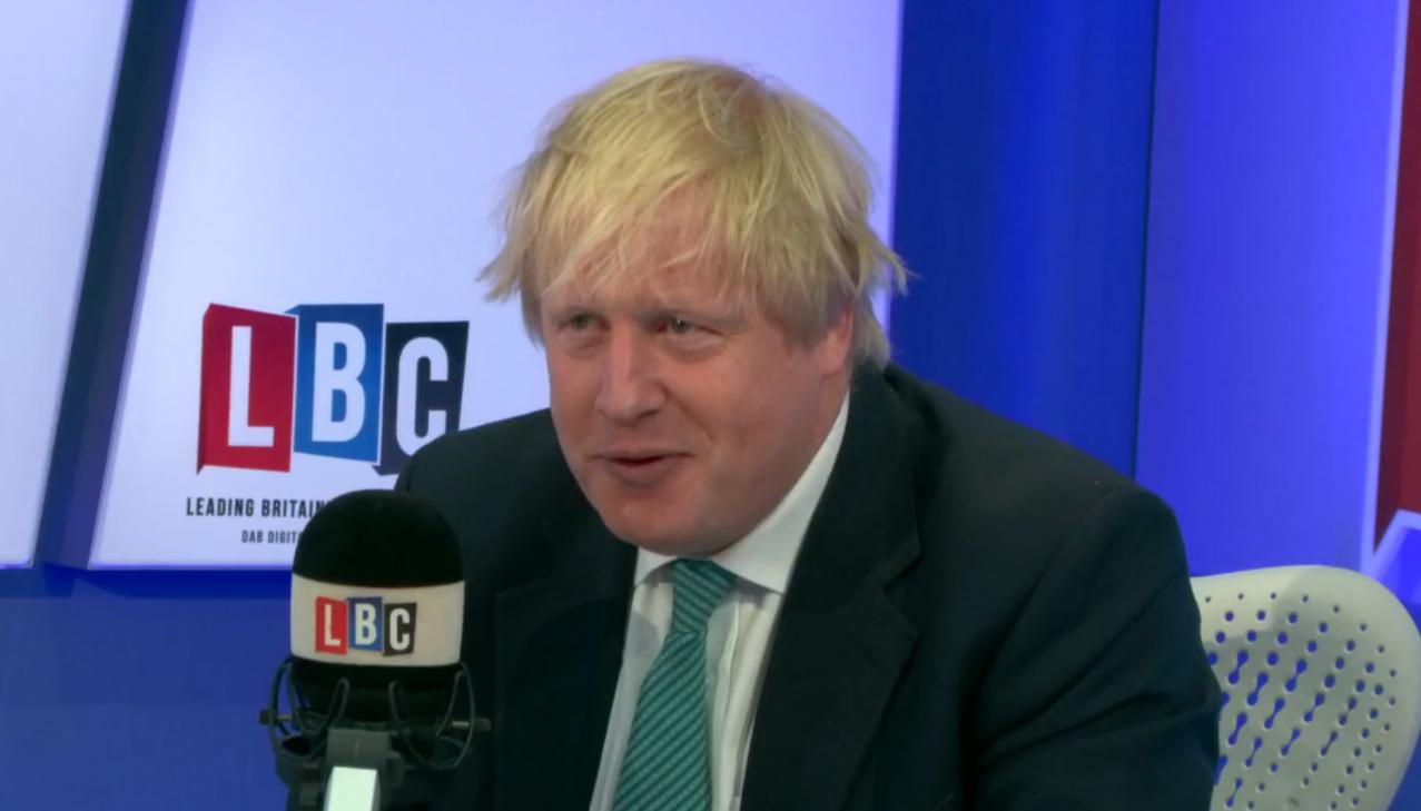 Boris Johnson LBC Smile