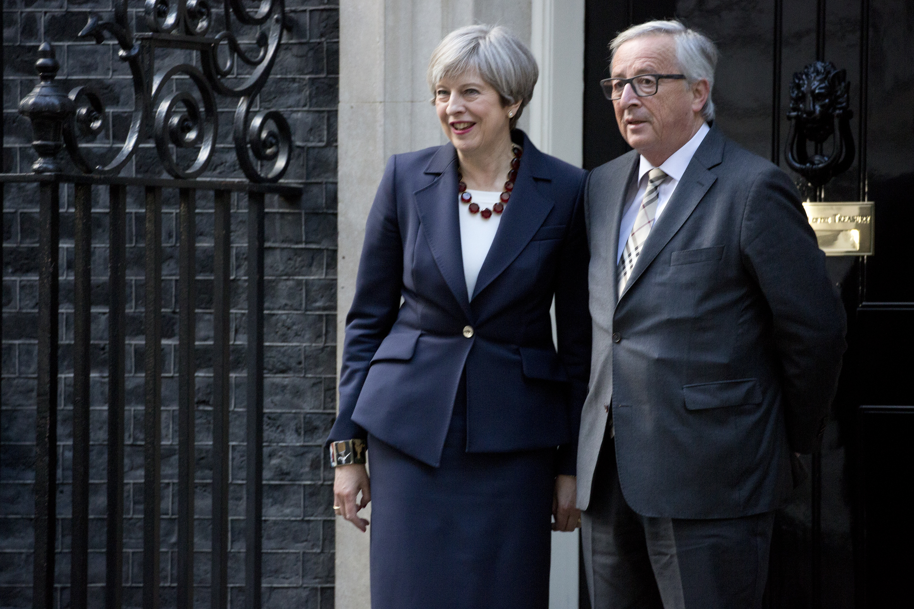 Theresa May Meets EU President Jean-Claude Juncker