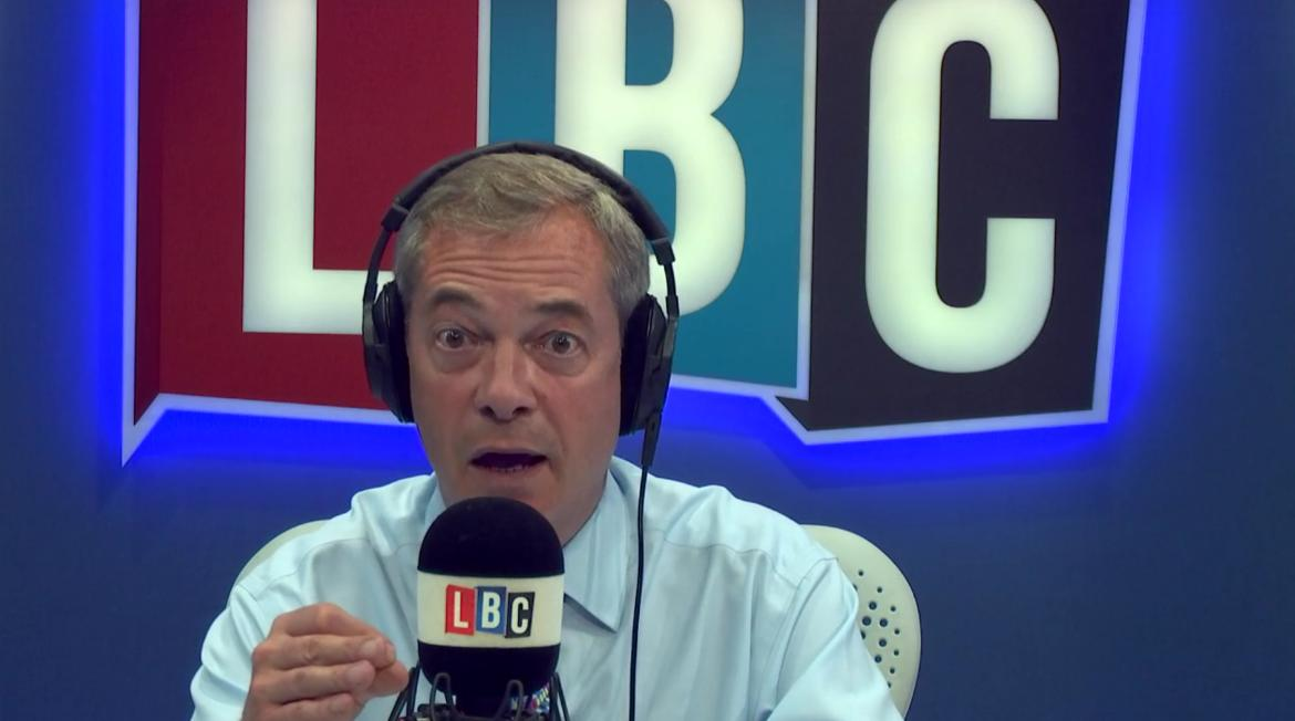 Nigel Farage talking
