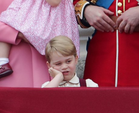Prince George was not enjoying Trooping The Colour