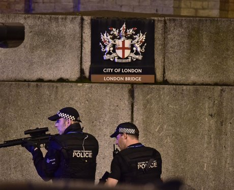 Armed police respond to the terror attack in London Bridge