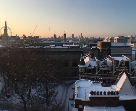 How London's Skyline Looks In The Snow