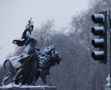 Victoria Memorial In The Snow