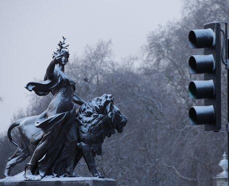 Victoria Memorial In The Snow